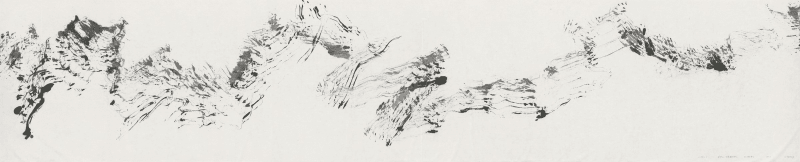 1534, 2015, Ink on Paper 纸本水墨, 74 x 366 cm
