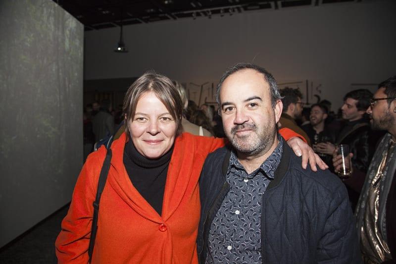 Andrea Jösch, curator of the Enfermedades Preciosas project, and graphic designer Patricio Vallejos. Photo: Cristián Aninat.