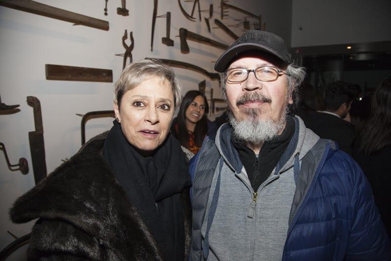Coca González, director of the Museum of Modern Art of Chiloé, and artist Carlos Gallardo. Photo: Cristián Aninat.