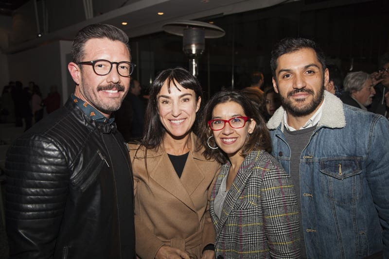 Gonzalo Ramírez, Isabel Croxatto, Carolina Hoehmann, and Rodrigo Burgos. Photo: Cristián Aninat.
