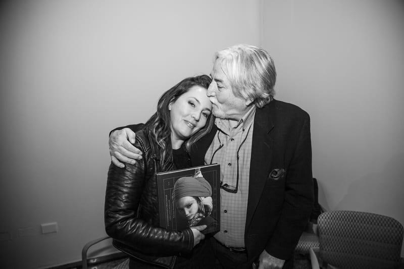 Cecilia Avendaño with her father, Orlando Avendaño. Photo: Cristián Aninat.
