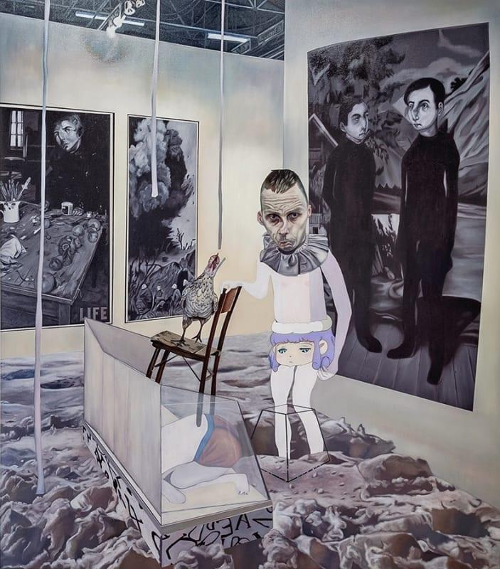 Carolina Muñoz, Desaparecer en el Espacio, 2019, Oil on canvas, 180 x 160 cm