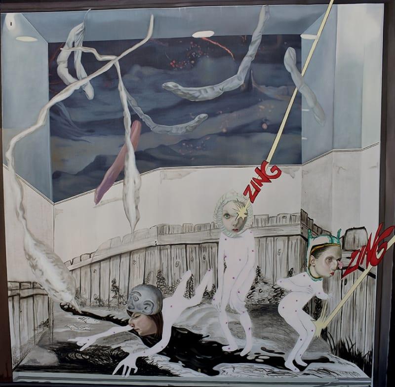 Carolina Muñoz, Mujeres del Espacio, 2020, Oil on canvas, 120 x 120 cm