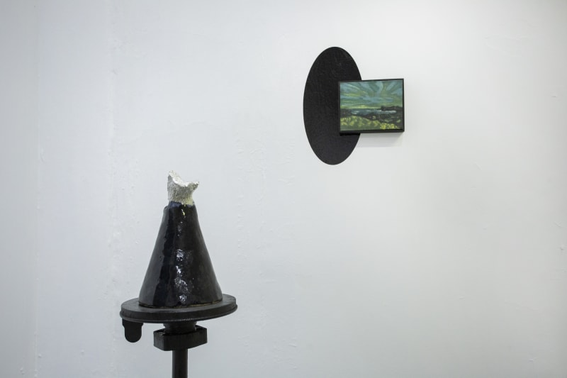 Installation view of the exhibition La Tierra Prometida by Coco González Lohse at Sala Leve. Santiago, Chile, September 2021.