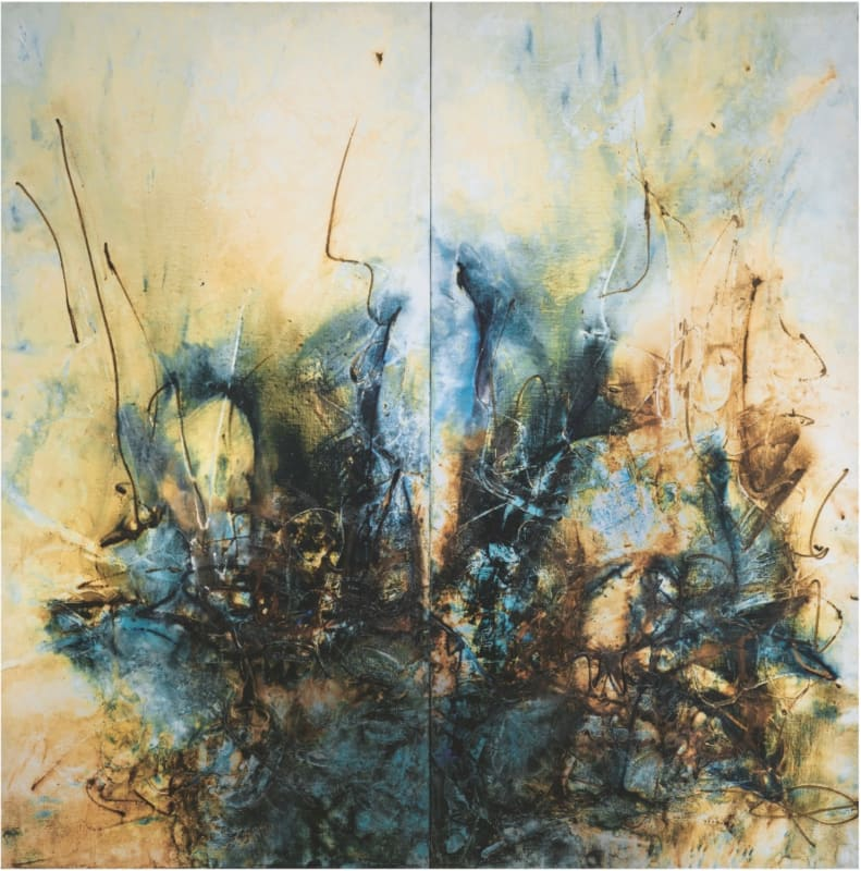 Go with the Wind (Diptych) 隨風飄逝, 1968, Oil on canvas 油彩畫布, 195 x 194 cm.