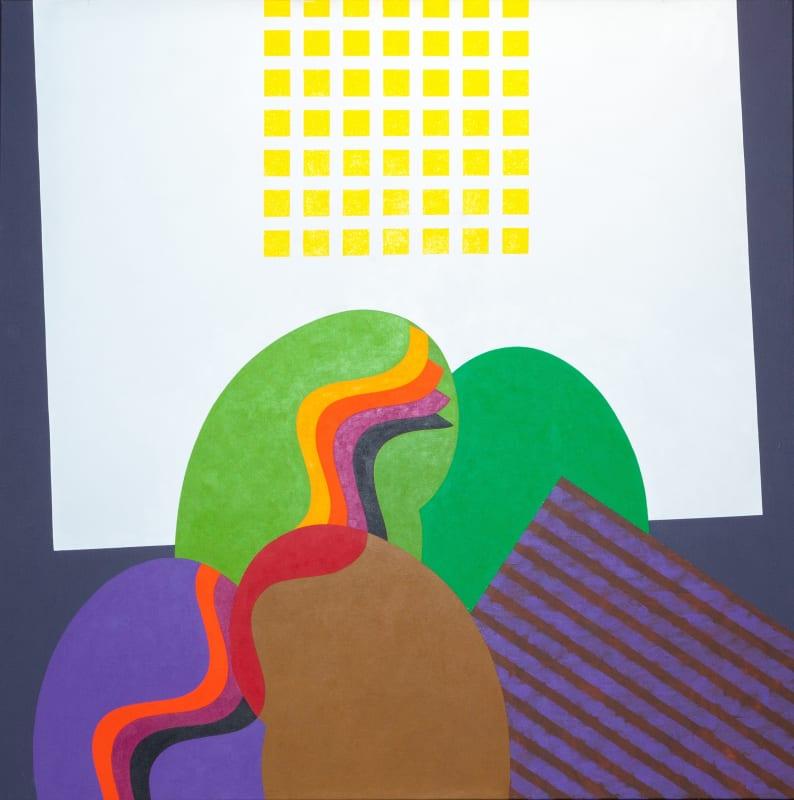 Mohamed Melehi Untitled, 2010 Acrylic on Canvas 150 x 150 cm