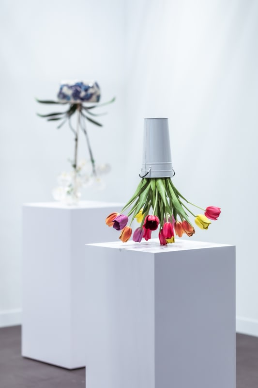 Arrangements by Tony Matelli at The Armory Show Photo by Charles Roussel