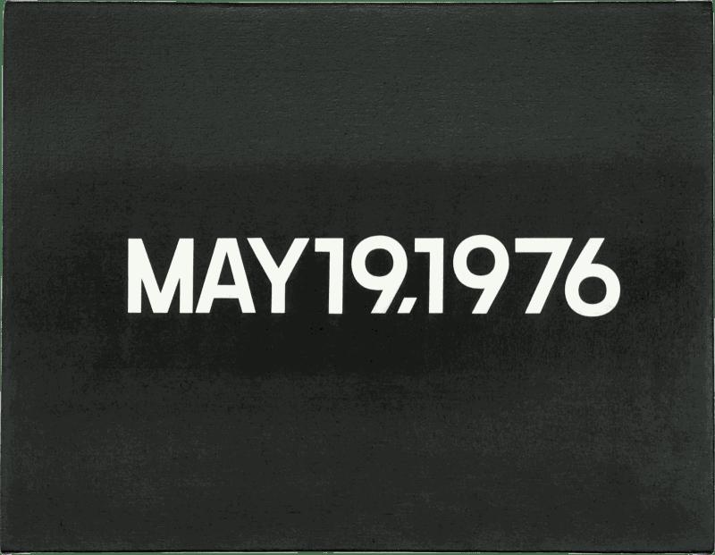 On Kawara, May 19, 1976, 1976