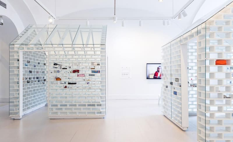 Installation view of The Gun Violence Memorial Project at the National Building Museum
