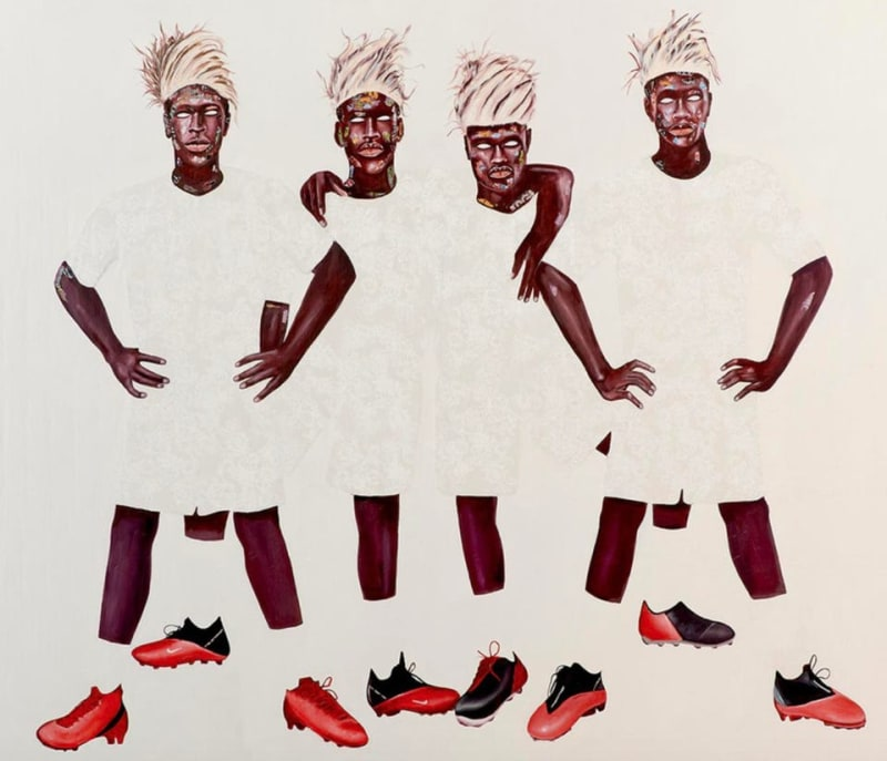'FOUR BROTHERS IN WHITE' MARUANI MERCIER GALLERY