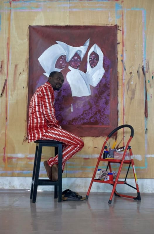 Portrait of the Artist: Emmanuel Taku in his Accra studio. MARUANI MERCIER GALLERY
