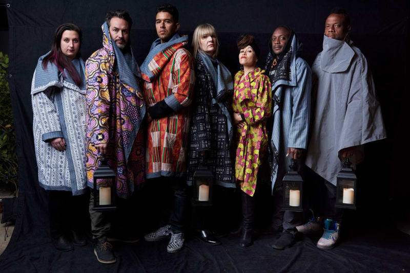 Members of the Wide Awakes collective (left to right: Helen Banach, Wyatt Gallery, Rob Sinclair, Claudia Bestor, Alixa Garcia, Hank Willis Thomas and Coby Kennedy). Photography: Jeff Vespa
