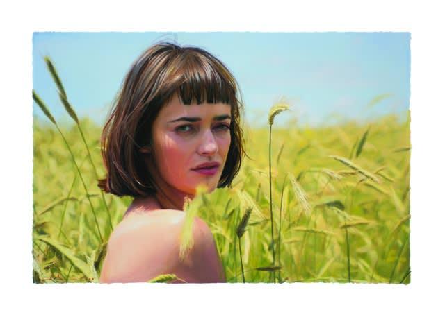 Yigal Ozeri Untitled; Olya, 2018 Oil on paper 14 × 21 in 35.6 × 53.3 cm