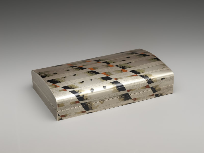 Oshiyama Motoko (Japanese, born 1958). Evening Haze (Banka) Document Box, 2009. Heisei period (1989–2019). Silver, copper and gold alloy (shakudō), brass, and copper. H. 2 in. (5.1 cm); W. 9 in. (22.9 cm) D. 5 1/2 in. (14 cm). The Metropolitan Museum of Art, Gift of Hayashi Kaoru, in celebration of the Museum's 150th Anniversary, 2020 (2020.76.10a, b). Image © Oshiyama Motoko