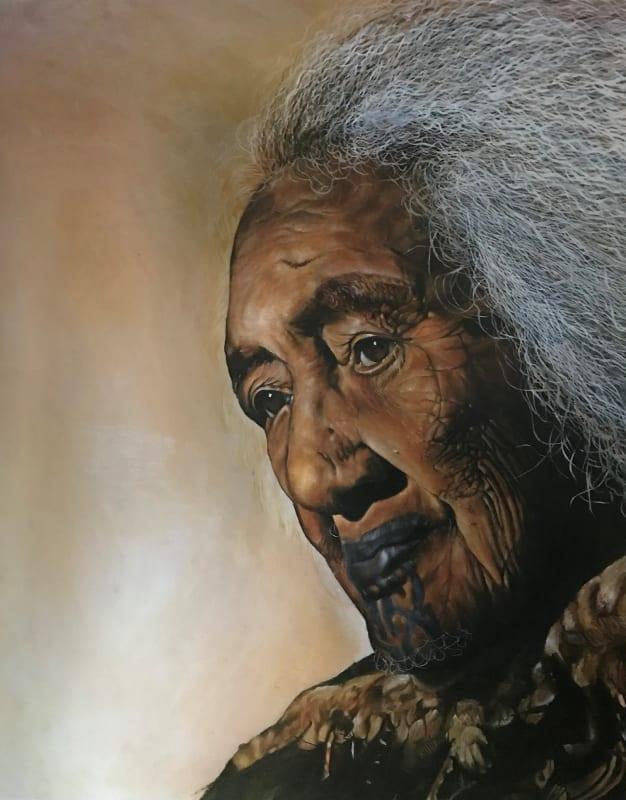 John Walsh, 'Te Whiu Maitai (1869 – 1960)', 1977, oil on board, private collection