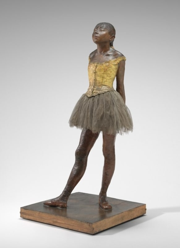 Edgar Degas, Little Dancer Aged Fourteen, 1878-1881, Beeswax, clay & mixed media National Gallery of Art, Washington DC