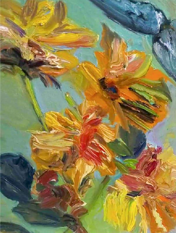 Pamela Davis Kivelson, Angry Sunflowers 1, 2020