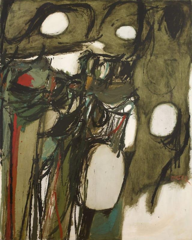 Essex Landscape, c.1959. Oil on board, 122 x 152 cm