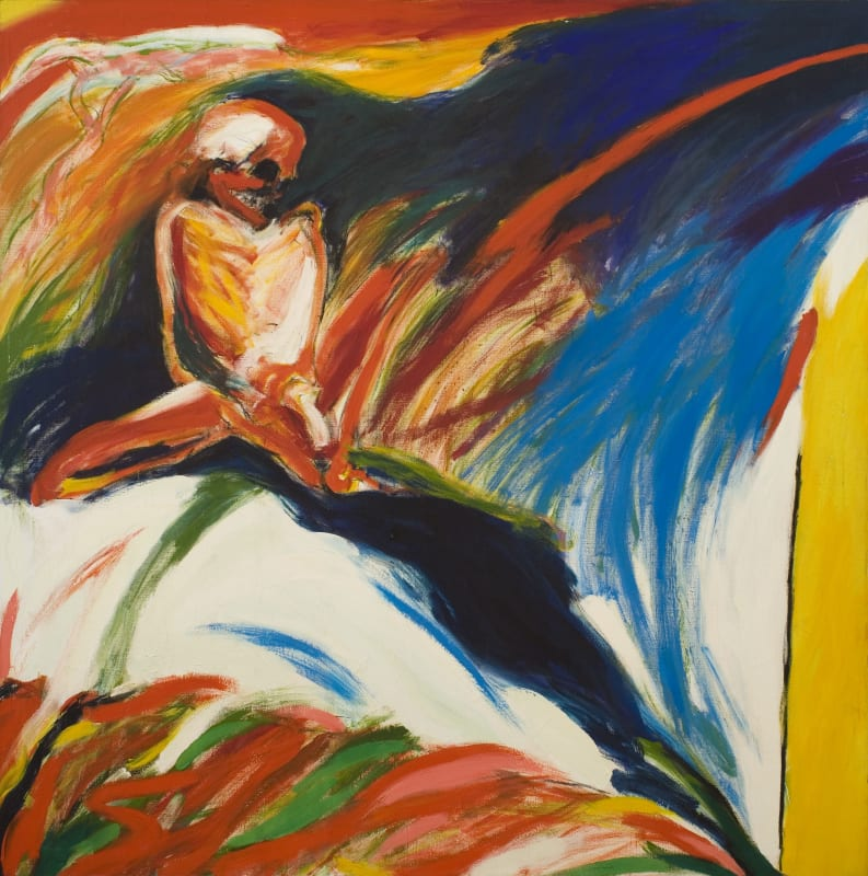 Figure in Landscape, c.1972. Oil on canvas, 172 x 172 cm, 67 3/4 x 67 3/4 in.