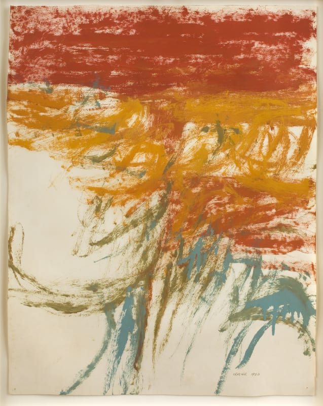 Red Landscape, Crystal Palace, 1960. Oil on paper, 64 x 50 cm, 25 1/4 x 19 3/4 in.