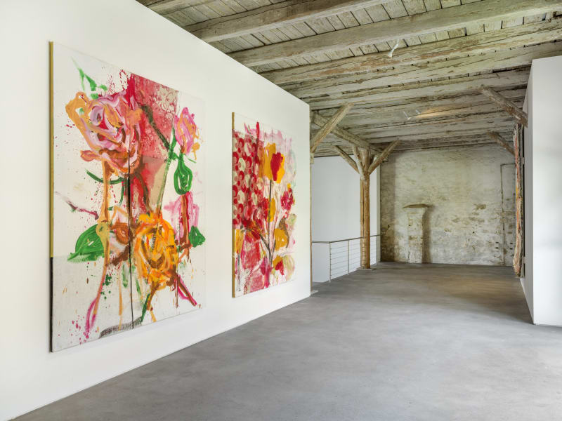 Installation View Jorge Galindo: Flower Paintings and works made in collaboration with Pedro Almodóvar Hall Art Foundation | Schloss Derneburg Museum Courtesy Hall Art Foundation Photo: Roman März