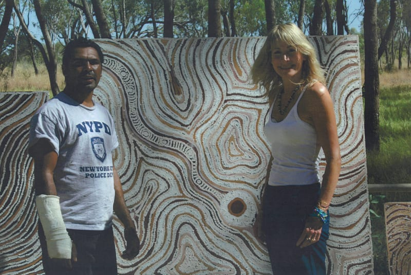 Rebecca Hossack and Lloyd Kwilla in the Kimberleys