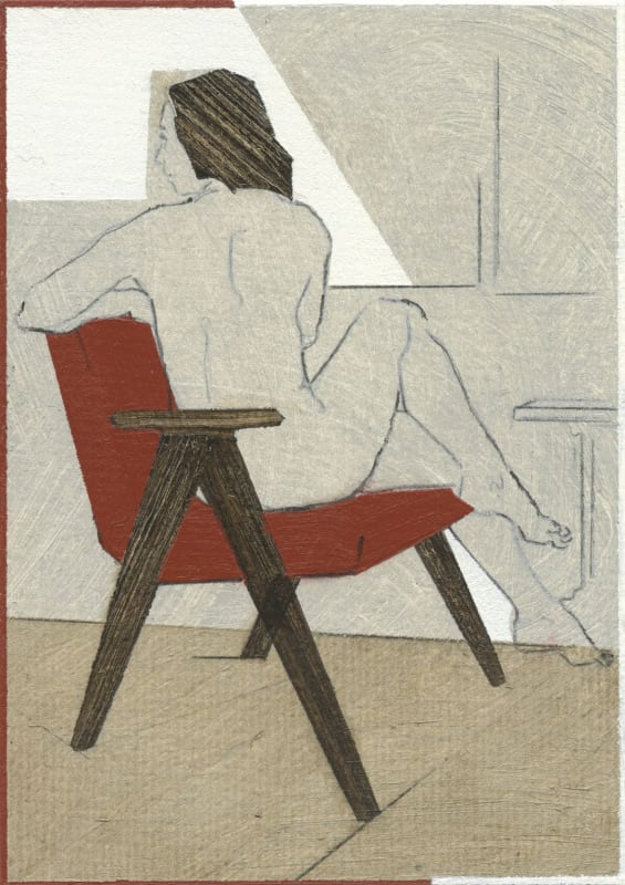 Lot 382: Nikoleta Sekulovic, Téano, 2021, acrylic and pencil on paper, 15 x 10 cm