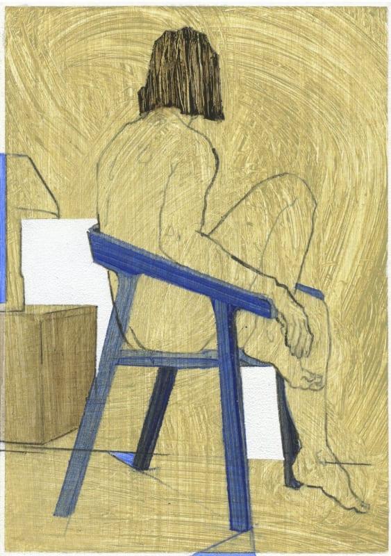 Lot 383: Nikoleta Sekulovic, Hypatia of Alexandria, 2021, acrylic and pencil on paper, 15 x 10 cm