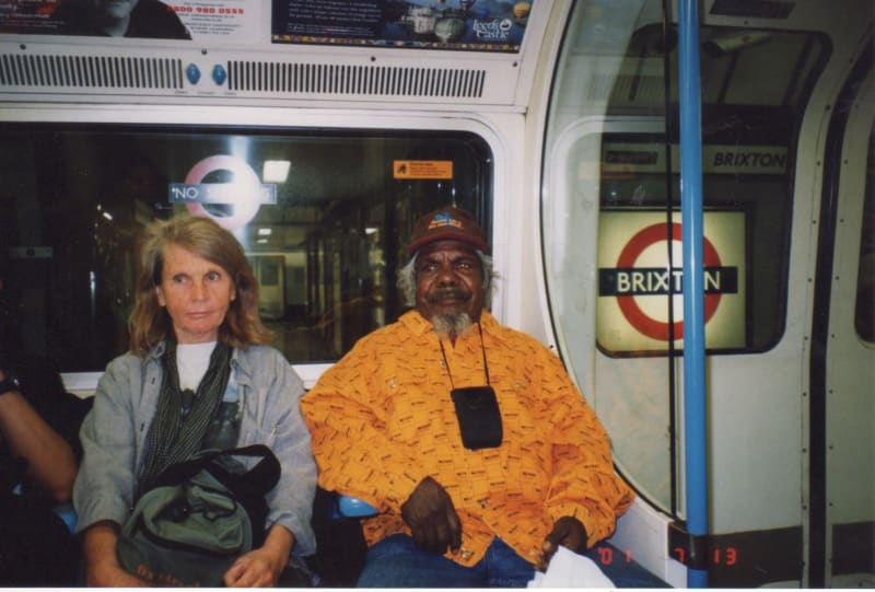 Jimmy Pike and Pat Lowe on the London Underground