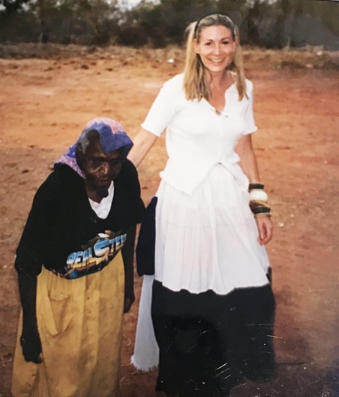 Rebecca Hossack and Emily Kame Kngwarreye in Australia