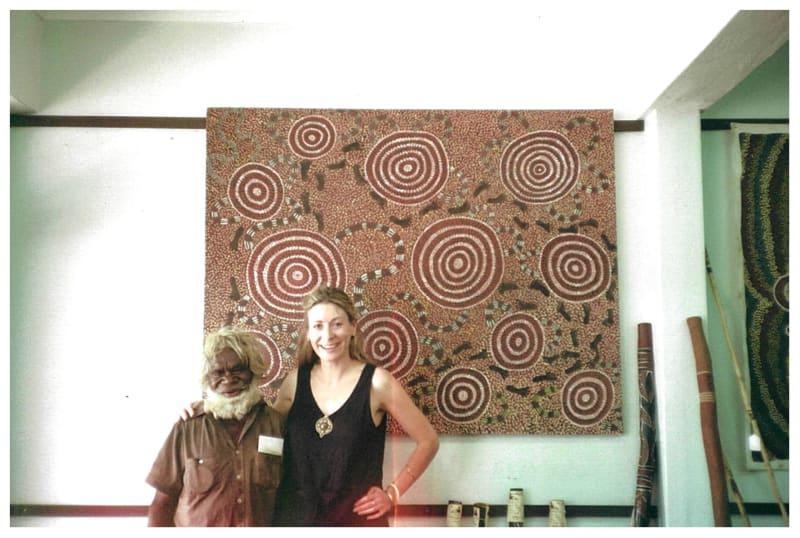 Rebecca and Billy Stockman Tjapaltjarri in Alice Springs