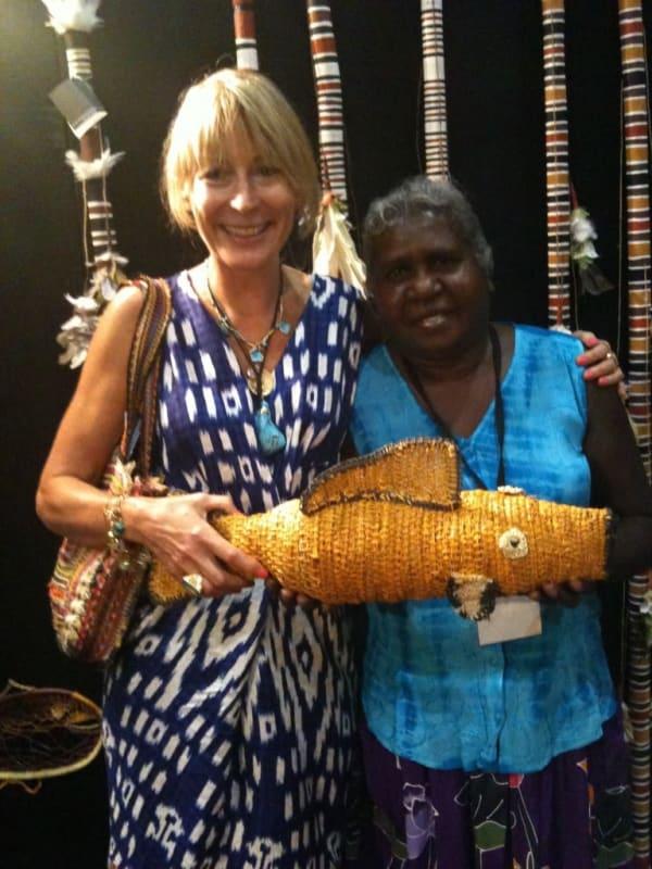 Rebecca Hossack with Judy Manany in Darwin