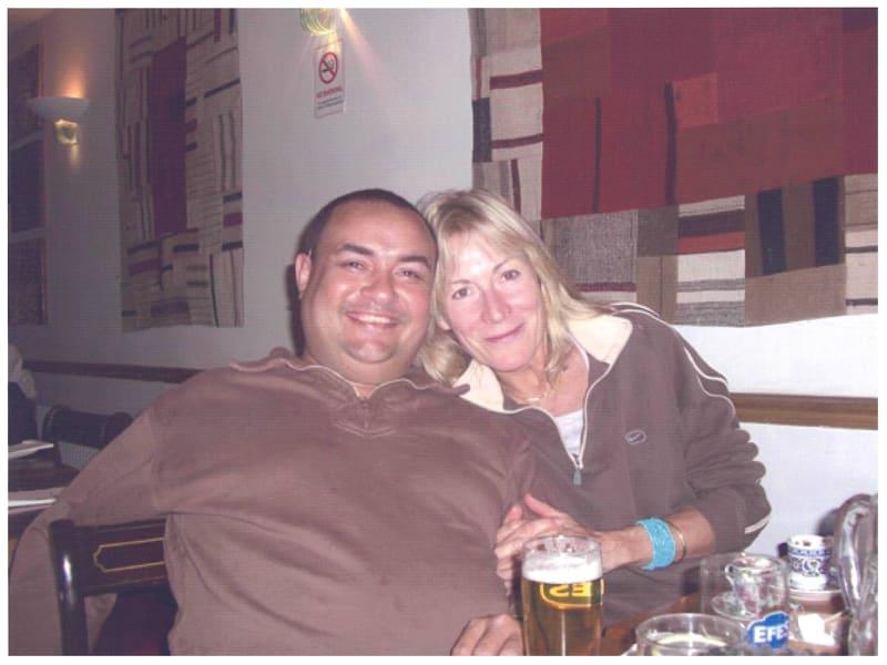 Rebecca Hossack and Dennis Nona in the Torres Strait Islands
