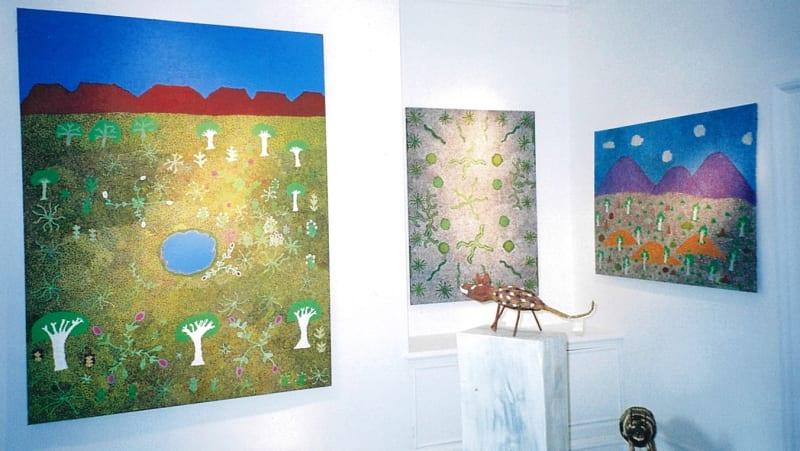 Exhibition of Ampilatwatja artists at Rebecca Hossack Art Gallery, London, 2012
