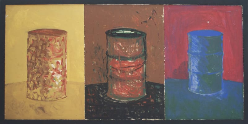 CHANDRAGUPTHA THENUWARA 1997 Barrelism Triptych, Oil on Canvas, 61cmx125cm