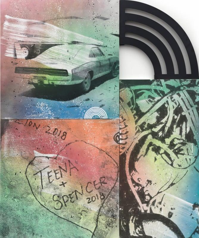 Wendy White, Teena + Spencer, 2019