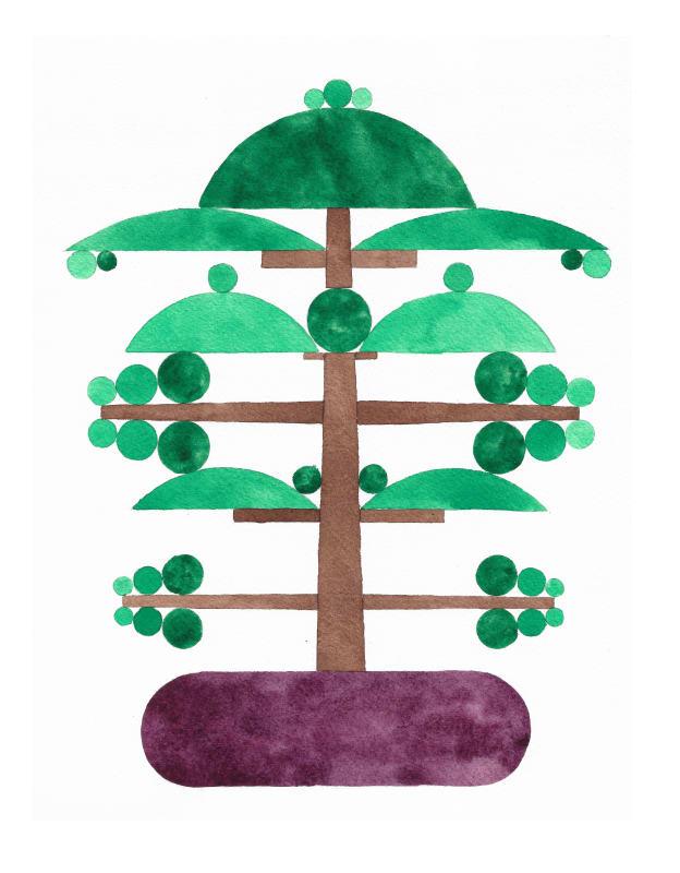 Chris Bogia, Bonsai (Temple Pine), 2019