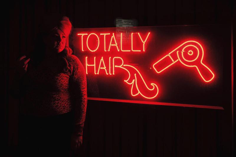 Genevieve Gaignard, Neon Hair, 2016