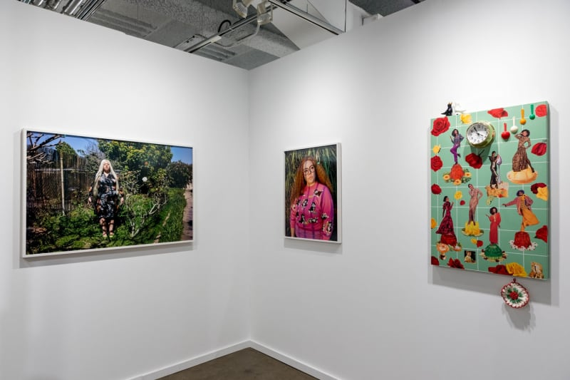 Amir H. Fallah, Genevieve Gaignard, and Wendy White, Dallas Art Fair, 2018
