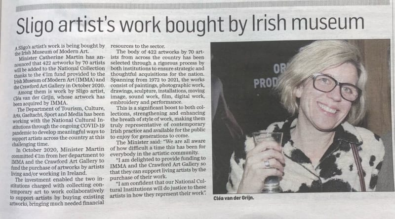 Article in The Sligo Champion