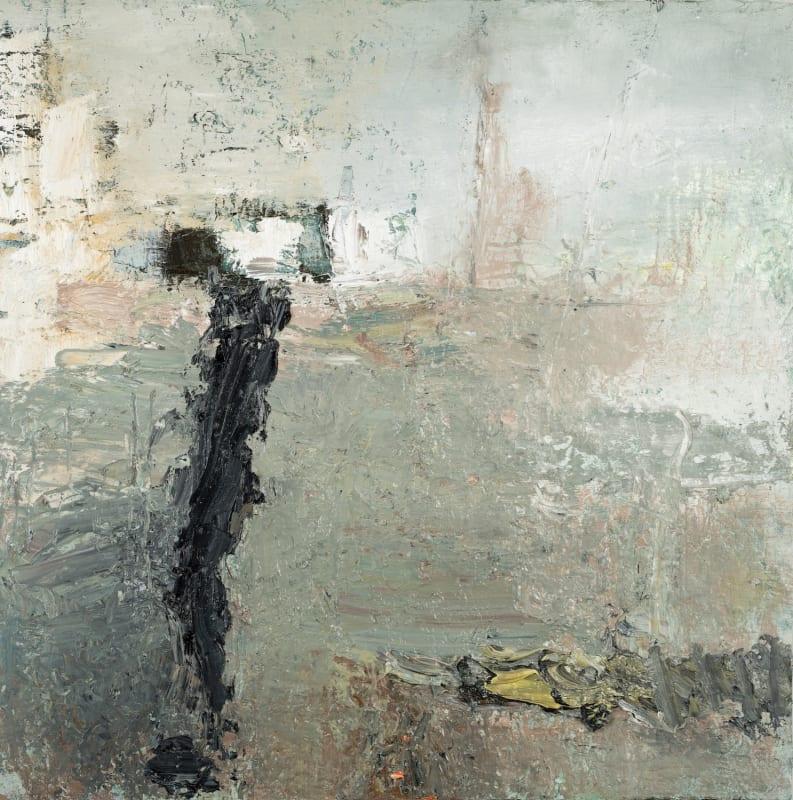 Carol Hodder, Mudlark, oil on canvas, 60 x 60cm