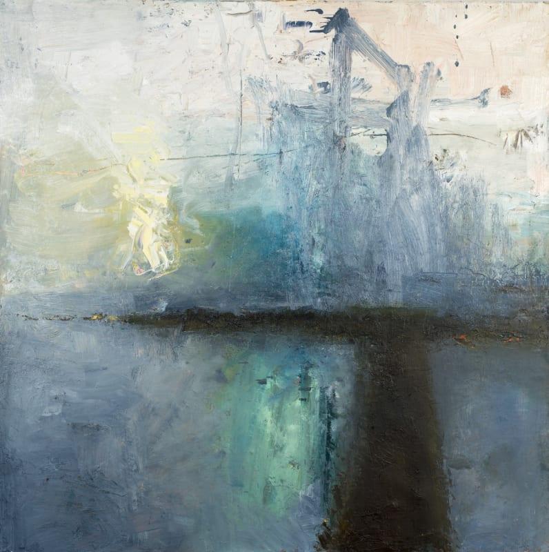 Carol Hodder, Night Harbour, oil on canvas,100 x 100cm