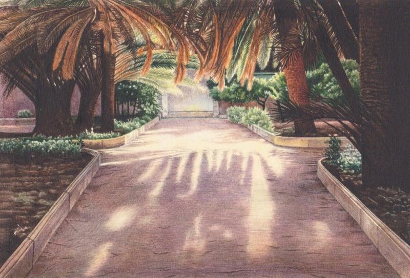 Liz Butler RWS, Sultry Afternoon in a Sicilian Garden