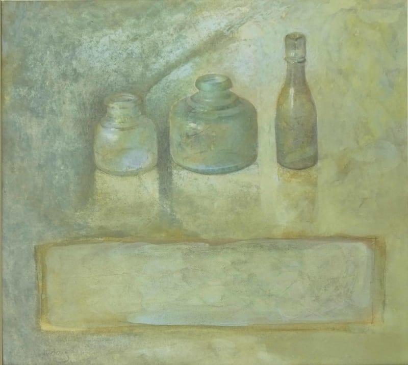 Sarah Holliday RWS, Three Bottles Waiting