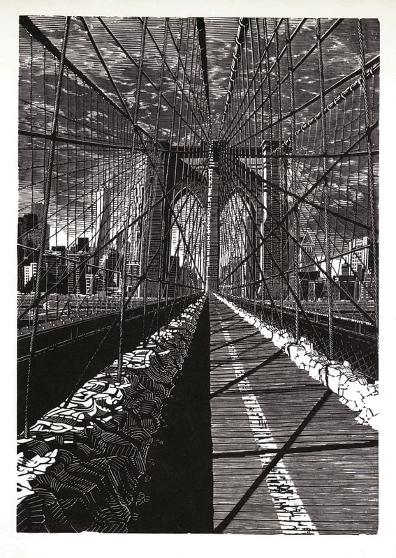 Anne Desmet RA RE, Brooklyn Bridge: New Day