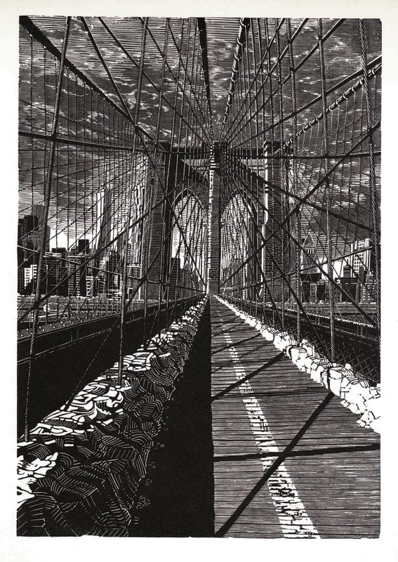 Anne Desmet RA RE, Brooklyn Bridge