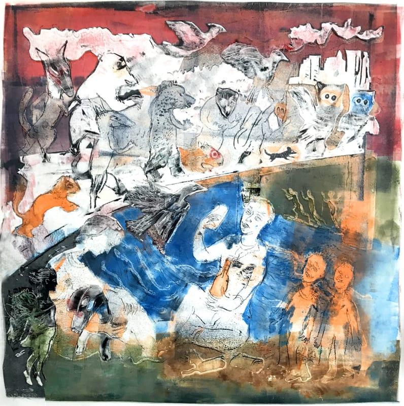 James Boyd Brent RE, Animals Crossing a Bridge