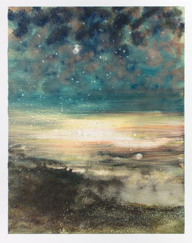 Bill Jacklin Hon RE, Stars and Sea at Night R 2017