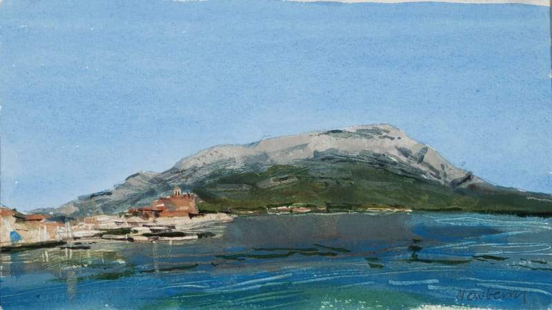 John Newberry RWS, Harbour and Town, Korcula, Croatia