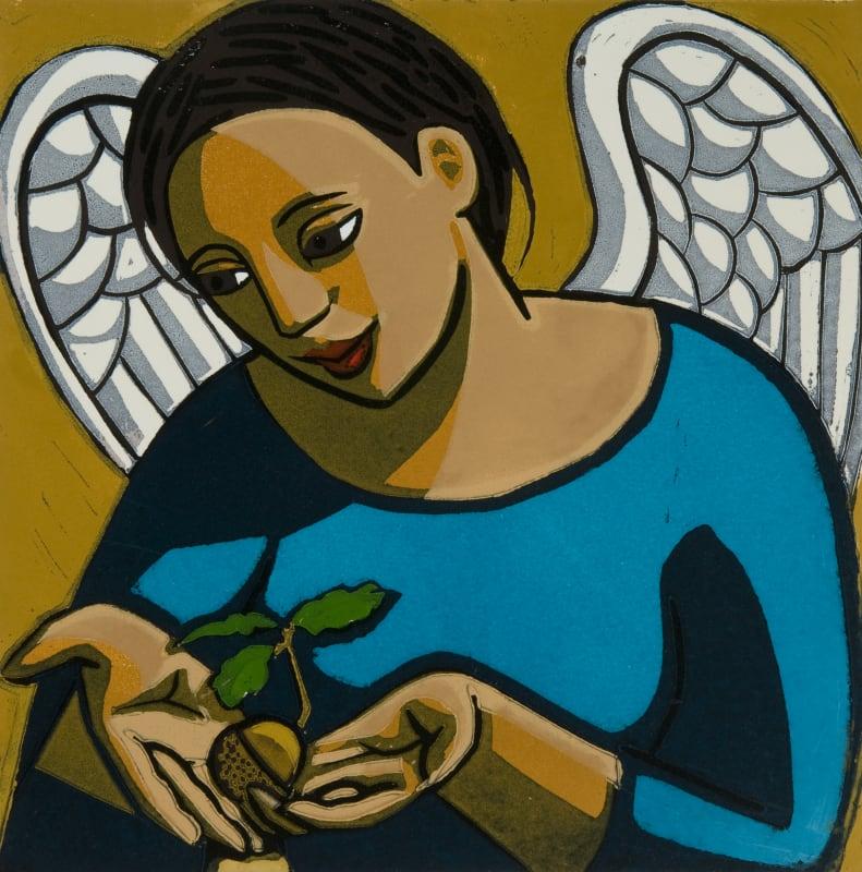 Anita Klein PPRE Hon. RWS, Angel Protecting an Acorn